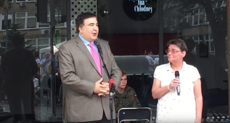 Саакашвили прилетел в Польшу (видео)