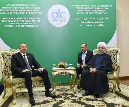 Состоялась встреча Ильхама Алиева c Рухани