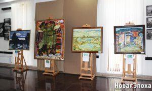 В Агсу прошла юбилейная выставка Народного художника Азербайджана – ФОТО