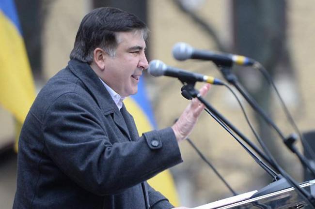 Единые идеи: Саакашвили повторил требования Вашингтона во время митинга под Верховной Радой