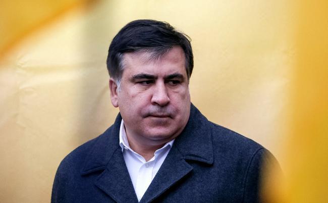 Саакашвили посетил палаточный городок на Грушевского