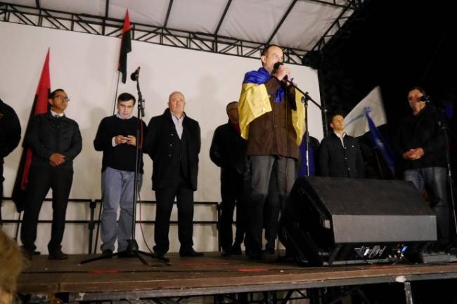 Саакашвили и Семенченко не планируют прекращать акцию протеста