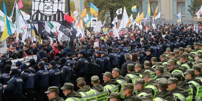 Недешевое мероприятие : стало известно, во сколько обошлась охрана митинга под Верховной Радой