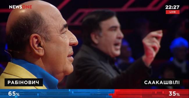 Рабинович «разгромил» Саакашвили на премьере шоу «Украинский формат» на канале NewsOne