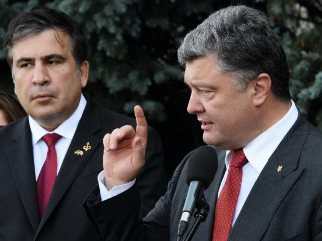 Саакашвили прокомментировал акцию сторонников Порошенко в центре Киева