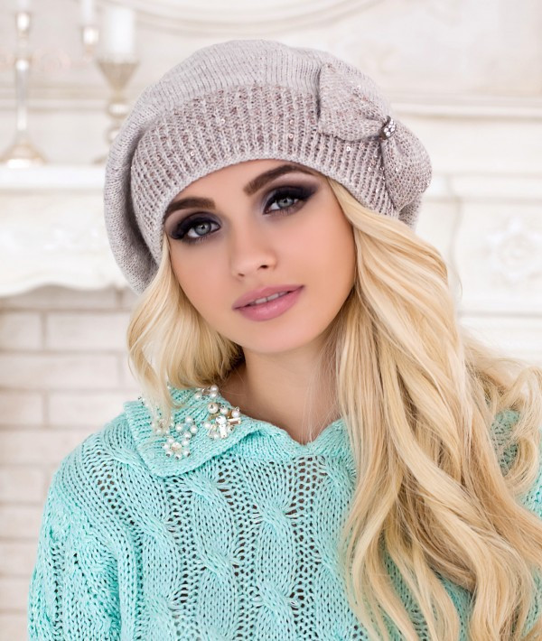 Вязаные женские береты для стильной зимы
