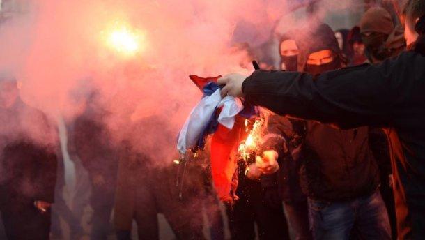 Россия отреагировала на очередное нападение на здание «Россотрудничества» в Киеве