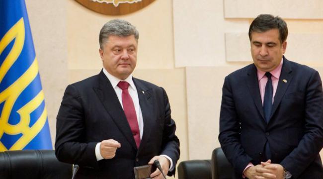 Сторонники Михаила Саакашвили собирают подписи за отставку президента Украины