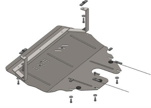 Защита поддона двигателя из металлических материалов