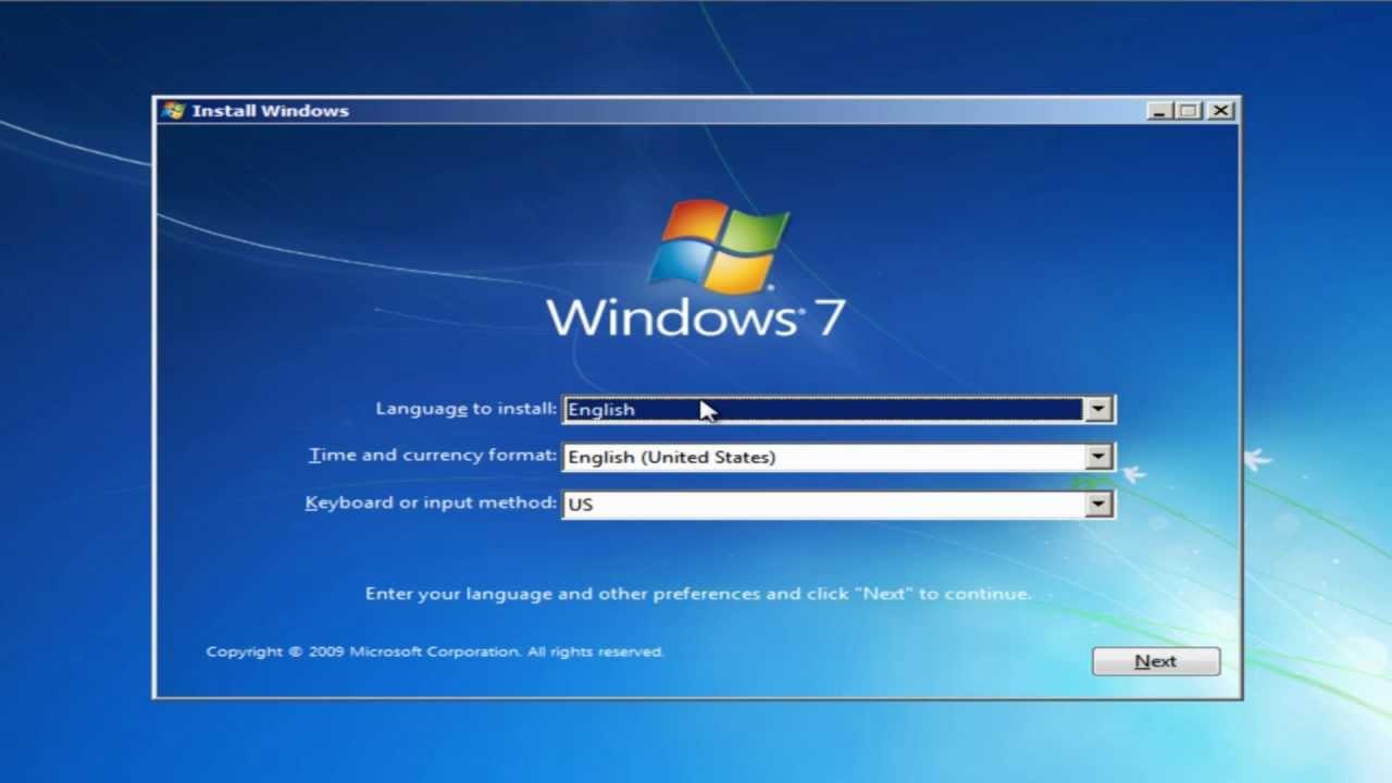 Установка Windows 7 в Запорожье. Компьютерный мастер на дом.
