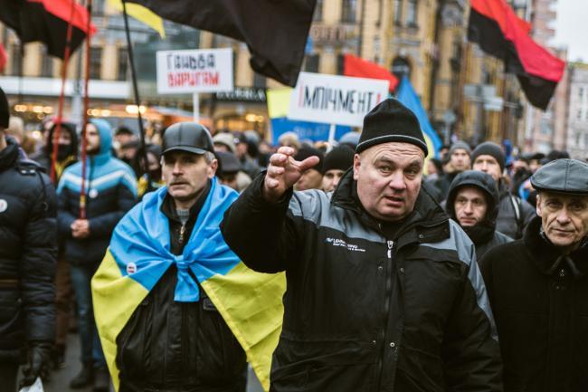В парке Шевченко митингуют партийцы Саакашвили