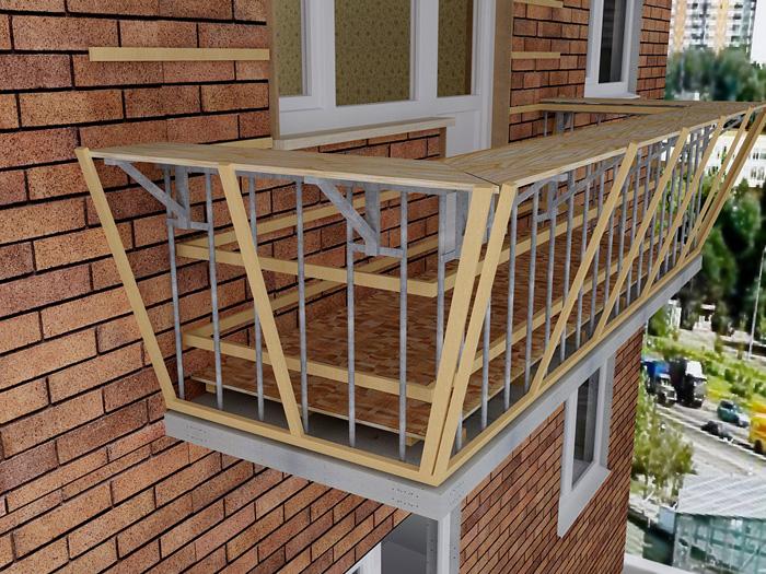 Надежный и профессиональный балкон с выносом