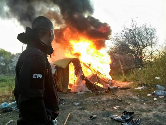 Разгром лагеря ромов под Киевом: начато несколько уголовных производств