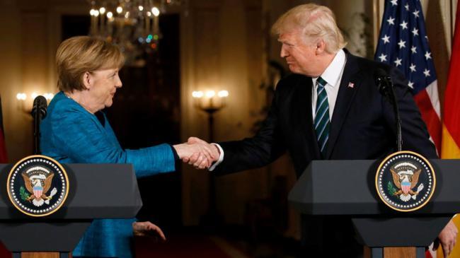 Тема Украины обсуждалась, — Меркель после переговоров с Трампом