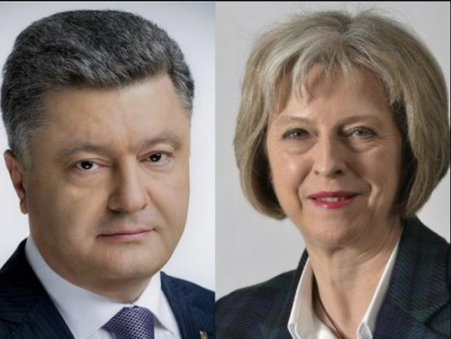 Порошенко и Мэй обсудили усиление давления на Кремль