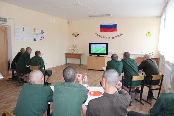 В Алексинской воспитательной колонии в честь ЧМ-2018 устроили спортивное кафе