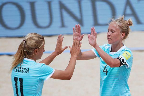 Александра Самородова— победительница Кубка Европы по пляжному футболу