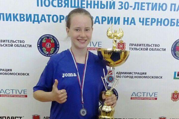 Новомосковка Валерия Шувалова забила первый гол в первенстве России