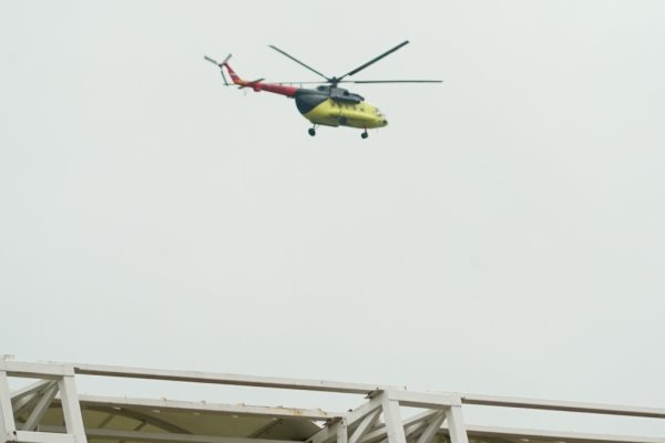 «Енисей» заметил красно-жёлтый вертолёт над тренировочным полем