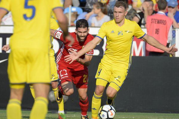 Тульский «Арсенал» играет вничью с «Ростовом» после первого тайма