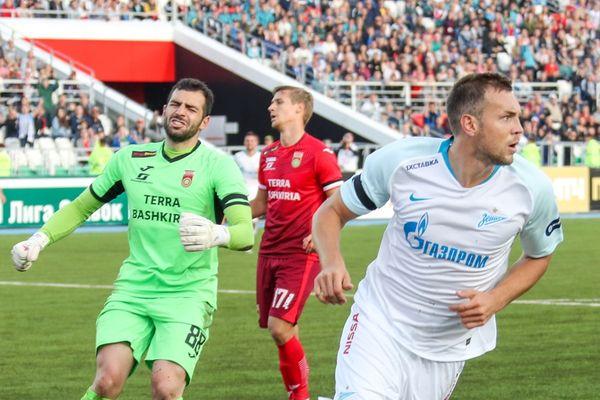Дзюба забил «Уфе», «Оренбург» Федотова упустил победу над «Краснодаром»