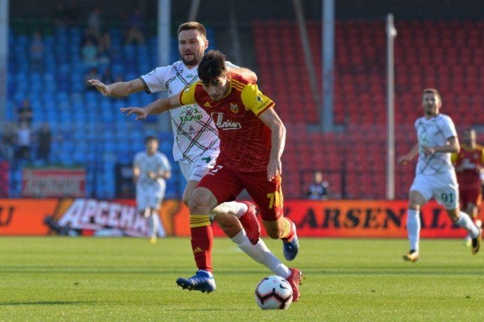 Тульский «Арсенал» сыграл вничью с «Рубином»