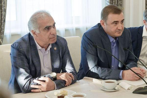 Дюмин оценил вклад президента «Арсенала» Аджоева в развитие тульского футбола