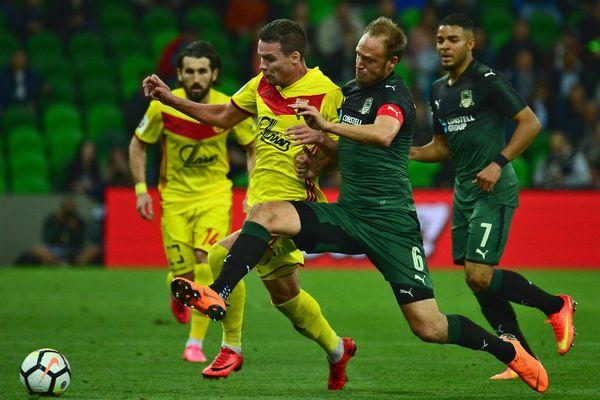 Тульский «Арсенал» проигрывает «Краснодару» после первого тайма