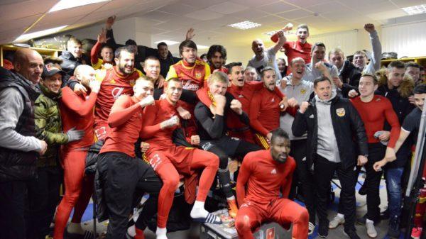 Тульский «Арсенал» опубликовал фото из раздевалки после победы над «Зенитом»