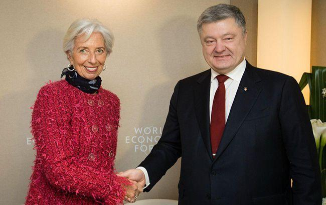 Порошенко планирует провести переговоры с главой МВФ
