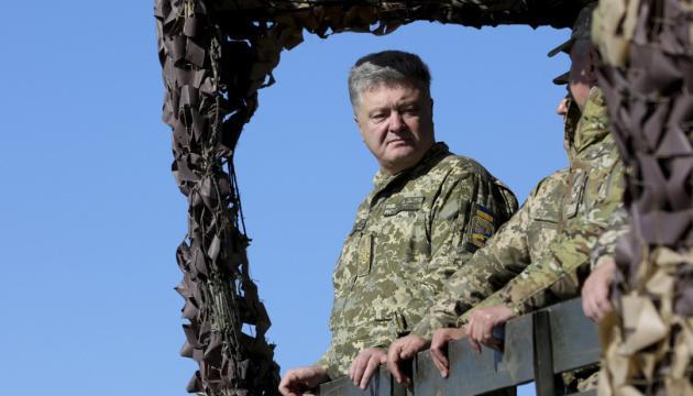 Порошенко: голосование в первом туре в армии я выиграл