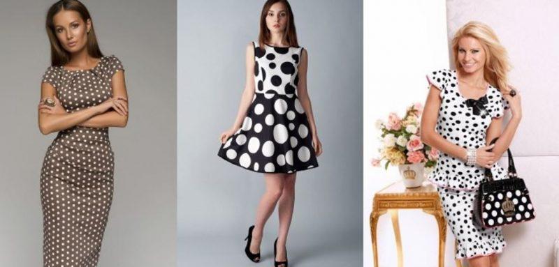 Купить платье в горошек недорого