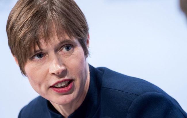 Президент Эстонии призвала поддержать Украину в борьбе с российской агрессией