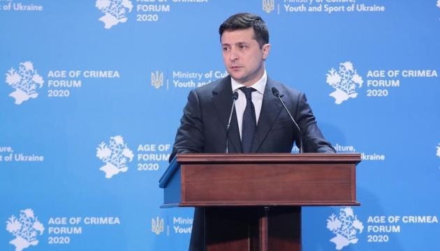 Зеленский заявляет, что Крым не станет ценой мира на Донбассе