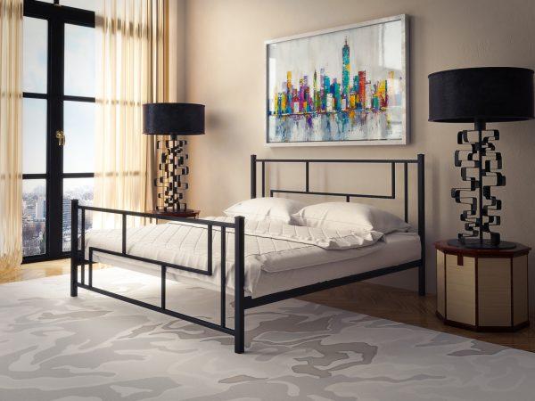 Металлическая двуспальная кровать с доставкой