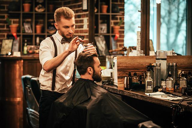 Парикмахерская для мужчин, взрослых и совсем юных