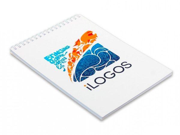 Блокнот на пружине с логотипом
